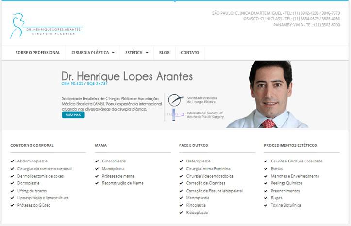 Site para médicos - Cirurgia Plástica 2014