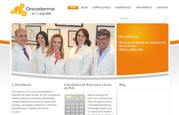 Site para médicos Oncoderma
