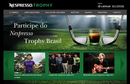 Nespresso trophy criacao de hotsites