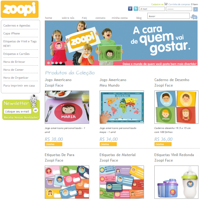 site-personalizacao-online-zoopi-web