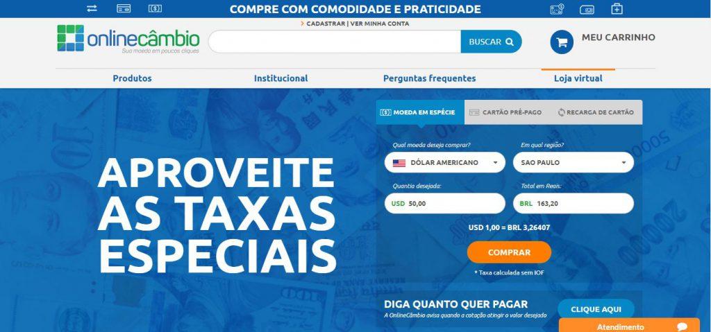 OnlineCâmbio | Comprar Dólar e Outras Moedas com a Melhor Taxa