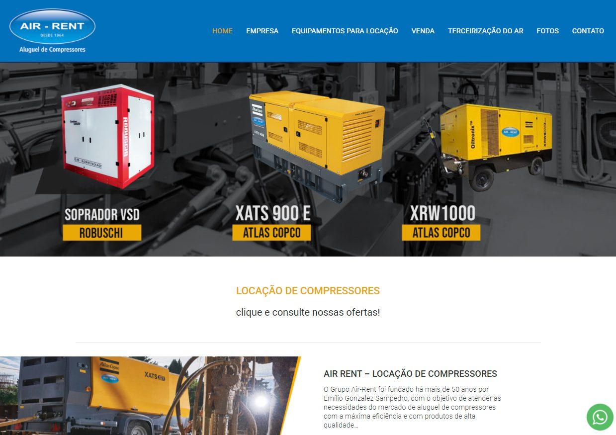 Site Air-Rent projeto de SEO